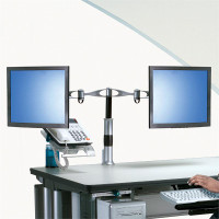 Desk Mount LCD Dual Arm Pivot