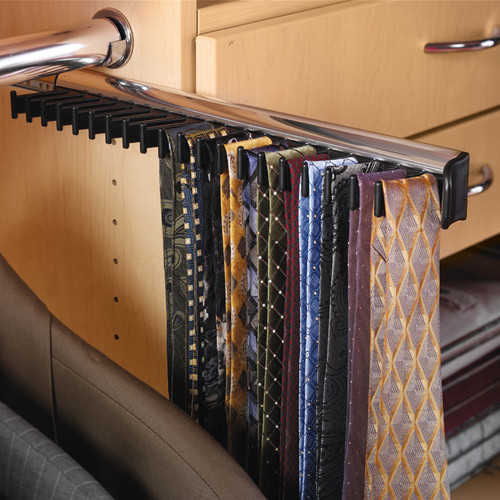 Hafele Synergy Tie Rack With 3 4 Extension Slide 807 54 233 Closet Masters