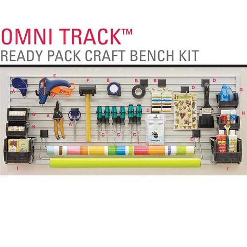 Omni track ready pack craft bench kit closet masters for Omni garage door