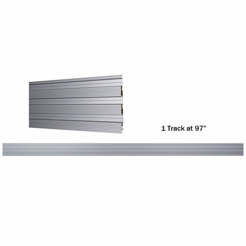 Omni track wall track 97 closet masters for Omni garage door
