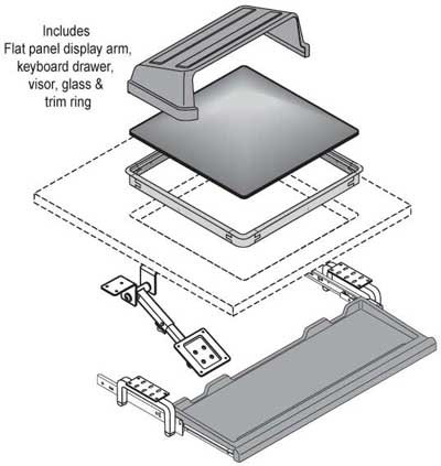Nova Workstation - Retrofit Kits -Flat Panel Display