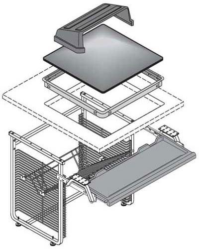 Nova Workstation - Retrofit Kits - CRT-Fully Recessed oversized
