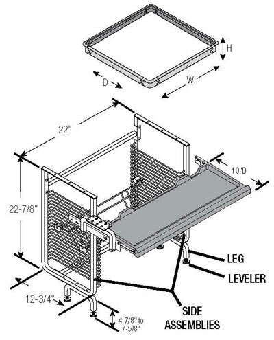 Nova Workstation - Retrofit Kits - CRT-Semi Recessed oversized