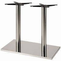 Verona Stainless Steel Rectangular Table Base - Table Height