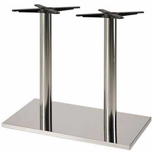 Verona stainless steel table base rectangular round