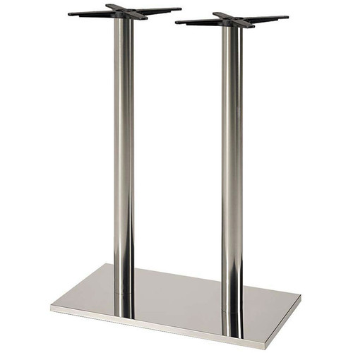 Coffee Height Round Large Table Base Round Column: Verona Stainless Steel Table Base, Rectangular Base, Round