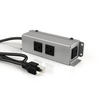 Villa Power Bar - Under Mount (3 Power) (VIL-UM-C -P-S-XX) - Silver Pearl