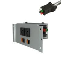 Villa Power Bar DaisyLink - Under Mount (2 Power with Data Options) (VIL-41-BAR-DKOS) - Silver Pearl