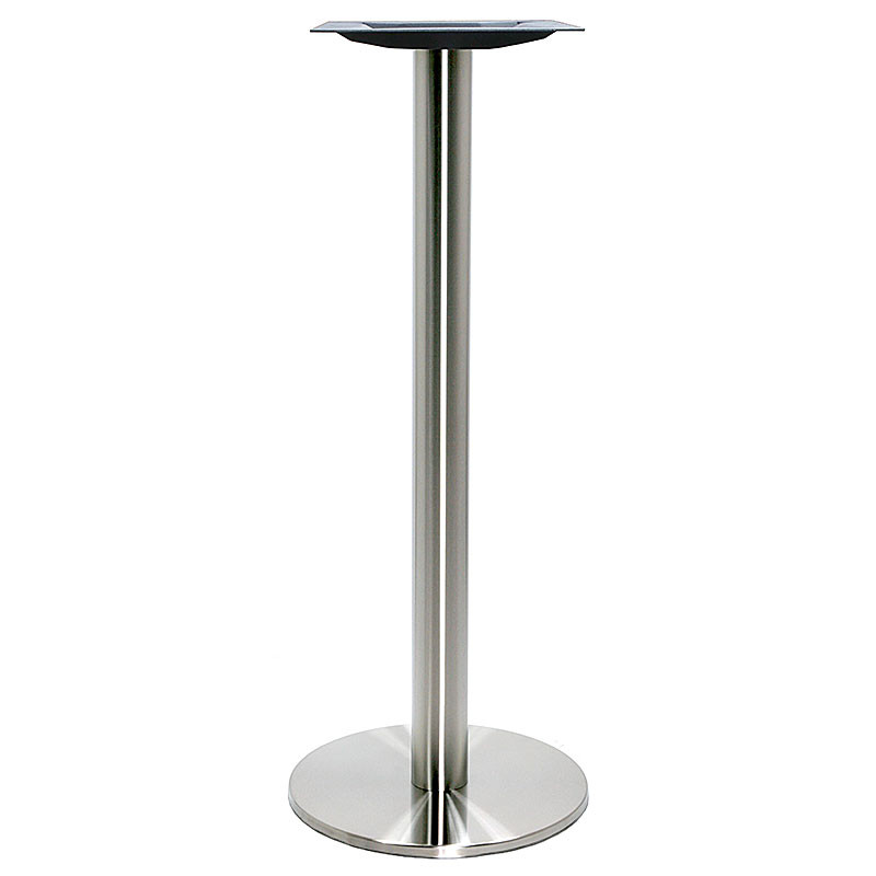 Round Stainless Base Coffee Height Tables: Turin Stainless Steel Table Base, Round