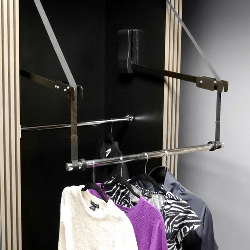 Hafele motorized wardrobe lift closet masters for Motorized vertical tv lift