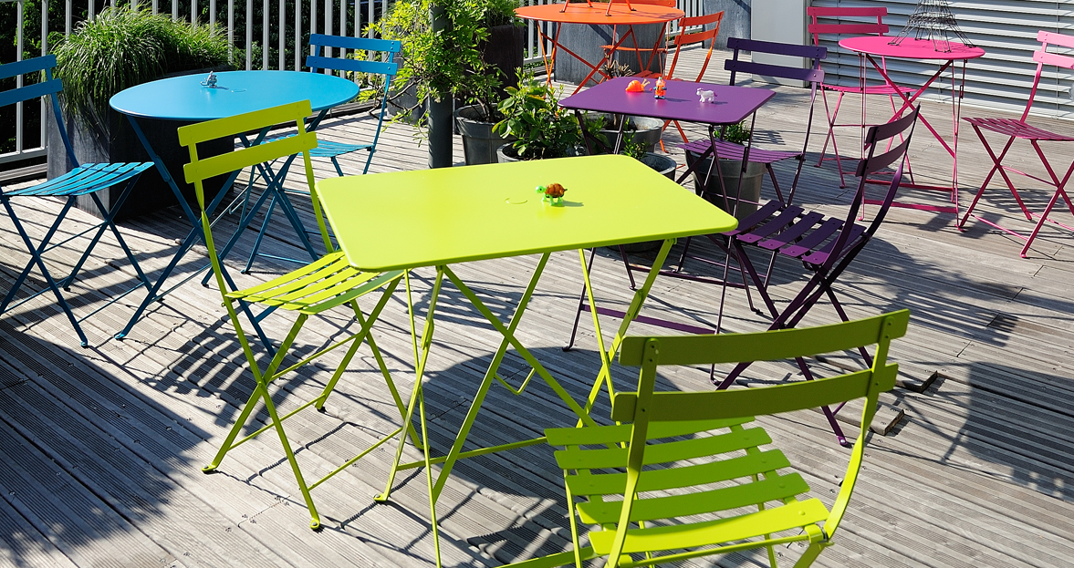Fermob Bistro 30X22 Inch Table With Parasol Hole