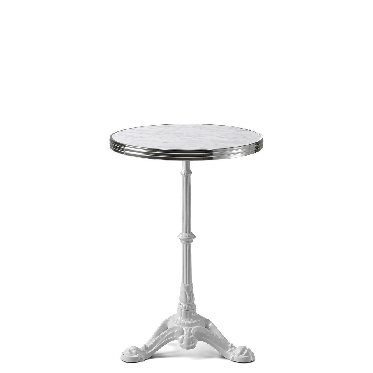 Ardamez Round White Marble Haussmann Bistro Table Top