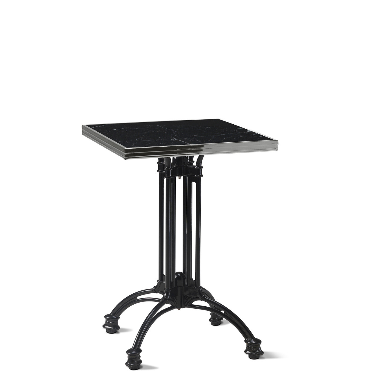 Ardamez Square Black Marble Haussmann Bistro Table Top