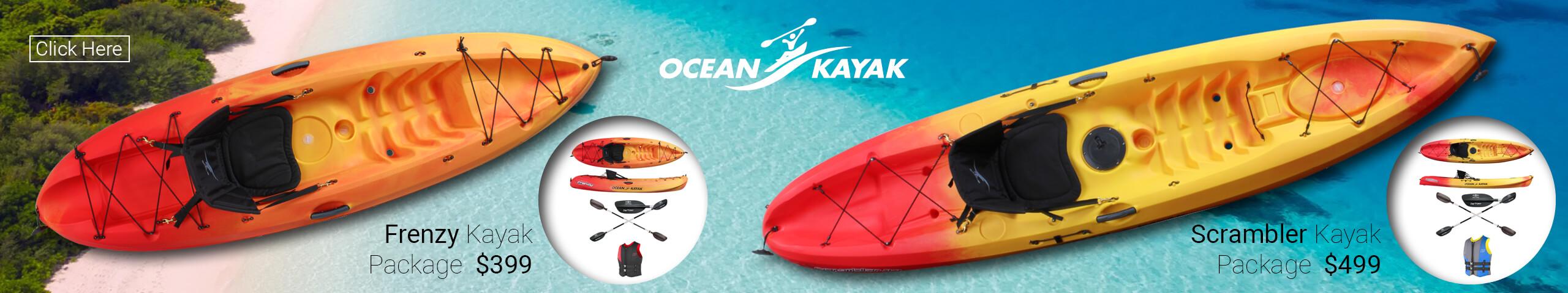 Frenzy Kayak and Scrambler Kayak Package - Ocean Kayak For Sales