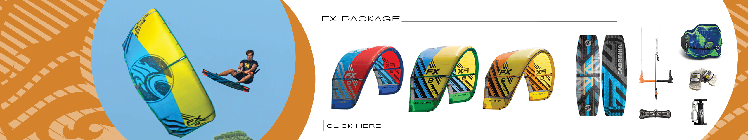 Cabrinha FX Kite Package