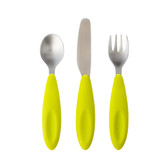 Boon Flatware Transitional Toddler Utensils, 3 pc (More Colors)