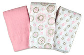 Summer Infant SwaddleMe Muslin Blankets, 3 pk, Floral Medallion
