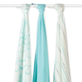 Aden + Anais Azure Bamboo Swaddles 3-Pack
