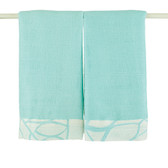 Aden + Anais Azure - Solid Aqua Bamboo Issie Security Blankets 2-Pack