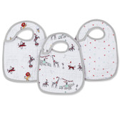 Aden + Anais Vintage Circus Classic Snap Bibs 3-Pack