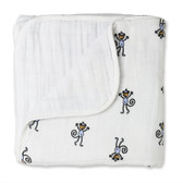 Aden + Anais Jungle Jam - Monkey + White Classic Dream Blankets