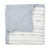 Aden + Anais Moonlight - Bead + Solid Grey Bamboo Dream Blankets