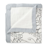 Aden + Anais Moonlight - Leafy+ Solid Grey Bamboo Dream Blankets