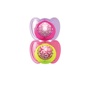 The First Years GumDrop Ortho Pacifier With Ring 6-18 Months Girl, 2 pk