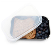 U Konserve Rectangle Container with Movable Divider Clear