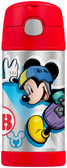 Thermos 12 oz Funtainer Insulated Stainless Steel Straw Bottle, Mickey Mouse