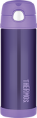 Thermos 16 oz Funtainer Insulated Stainless Steel Straw Bottle, Purple