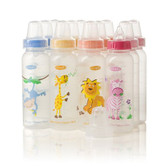 Evenflo Feeding Zoo Friends 8oz 12-Pack Bottle with Anatomic Nipple