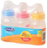 Evenflo Feeding Zoo Friends 4oz 3-Pack Bottle with Standard Nipple