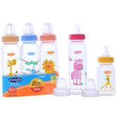 Evenflo Feeding Zoo Friends 8oz 3-Pack Bottle with Standard Nipple