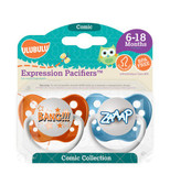 Ulubulu Bang & ZAAP Pacifiers 6-18M (Boy)