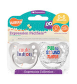 Ulubulu Mute Button & Pull to Sound Alarm Pacifiers 0-6M (Unisex)