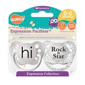 Ulubulu Hi & Rock Star Pacifiers 0-6M (Unisex)