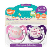 Ulubulu Princess in Training & Daddy's Girl Pacifiers 6-18M (Girl)