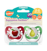 Ulubulu Apple & Pear Pacifiers 0-6M (Unisex)