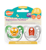 Ulubulu Orange & Red Monster Pacifiers 0-6M (Boy)