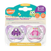 Ulubulu Purple & Light Pink Monster Pacifiers 6-18M (Girl)