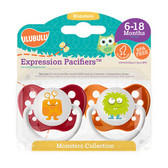 Ulubulu Orange & Green Monster Pacifiers 6-18M (Unisex)