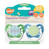 Ulubulu Blue Argyle & Green Chevron Pattern Pacifiers 0-6M (Boy)