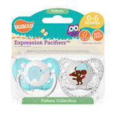 Ulubulu Elephant & Mouse Pacifiers 0-6M (Boy)