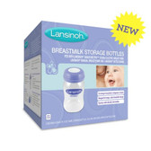 Lansinoh Breastmilk Storage Bottles 4 Count, 5 oz