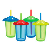 Munchkin Click Lock 10oz Reusable Straw Cups 4-Pack