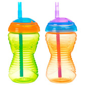 Munchkin Mighty Grip 10oz Straw Cup, 2 pk (More Colors)