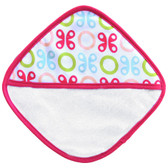 JJ Cole Washcloth Set, 3pk Pink Butterfly
