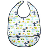 JJ Cole Bib, 1 pk, White Vroon