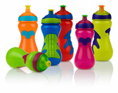 Nuby Gator Grip Sports Bottle with Pop-Up Sipper, 15 oz, 1 pk